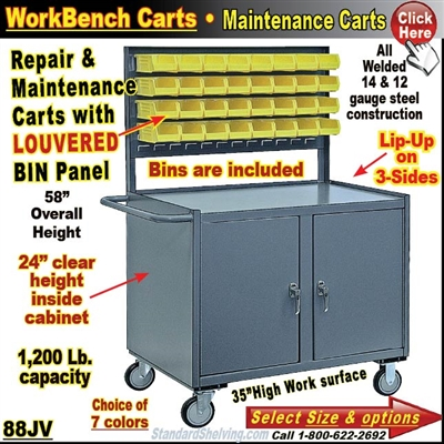 Louvered Bin Panel Repair & Maintenance Carts