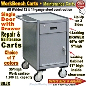 88JX / 1-Drawer Cabinet Narrow Maintenance Carts