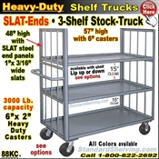 88KC / 3-Shelf SLAT-ENDS Stock Transport Truck