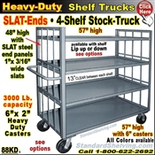 88KD / 4-Shelf SLAT-ENDS Stock Transport Truck