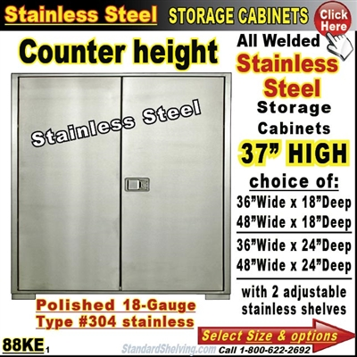 88KE / Stainless Steel Storage Cabinets