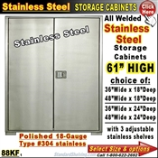 88KF / Stainless Steel Storage Cabinets