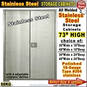 88KG / Stainless Steel Storage Cabinets