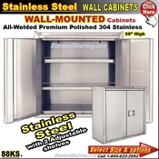 88KS / Wall Mount Stainless Steel Storage Cabinets