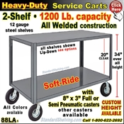 88LA / Heavy Duty 2-Shelf Service Cart