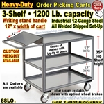 88LO / Heavy-Duty Order Picking 3-Shelf Trucks