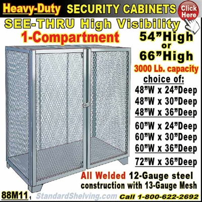 88M11 / Heavy-Duty See-Thru BULK Security Storage Cabinets