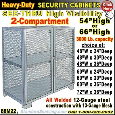 88M22 / Heavy-Duty See-Thru BULK Security Storage Cabinets
