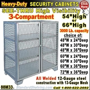 88M33 / Heavy-Duty See-Thru BULK Security Storage Cabinets
