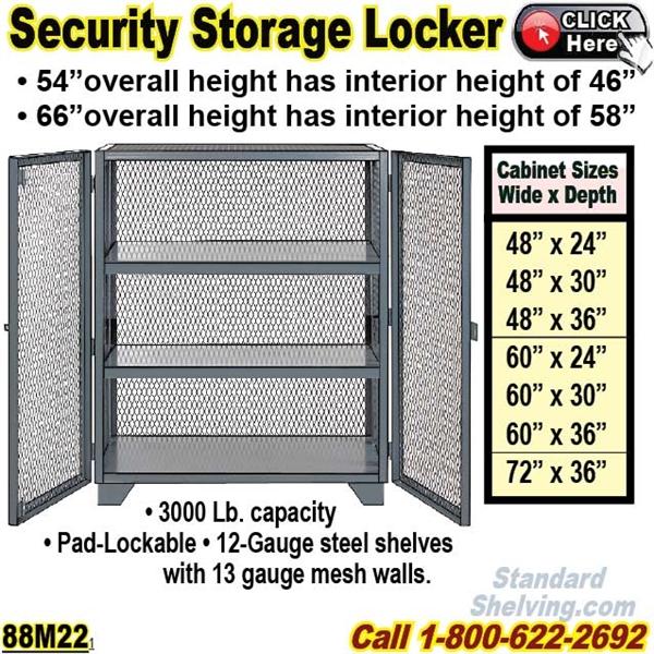 Mesh Door Bulk Security Storage Cabinets