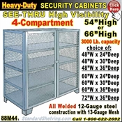 88M44 / Heavy-Duty See-Thru BULK Security Storage Cabinets