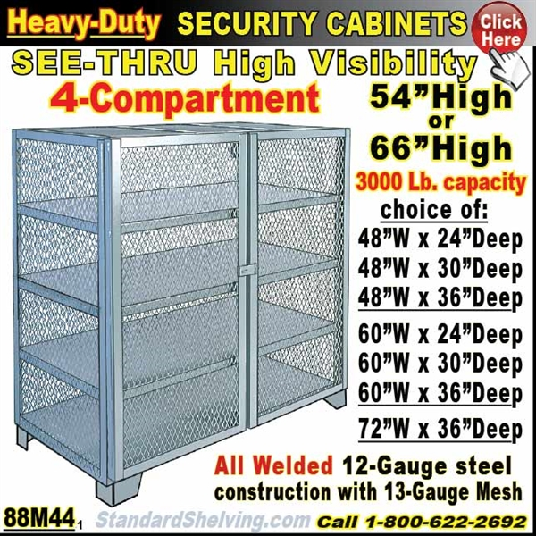 Mesh Security Storage Cabinets