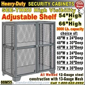 88M55 / Heavy-Duty See-Thru BULK Security Storage Cabinets