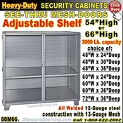 88M66 / Heavy-Duty See-Thru BULK Security Storage Cabinets