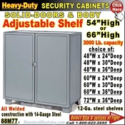 88M77 / Heavy-Duty BULK Security Storage Cabinets