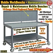 88MR / PegBoard Mobile WorkBenches