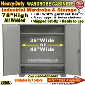 88MU / Heavy-Duty Wardrobe Storage Cabinets