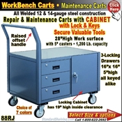 88RJ / 1-Door Cabinet 3-Drawer Maintenance Carts