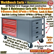 88RP / 10-Drawer Tool & Maintenance Trucks