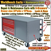 88RS / 6-Drawer Tool & Maintenance Trucks