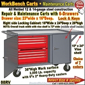 88RV / 6-Drawer Tool & Maintenance Trucks