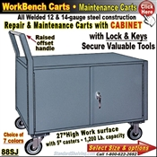 88SJ / 2-Door Cabinet Repair & Maintenance Carts