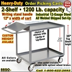 88SO / Heavy-Duty Order Picking Shelf Trucks