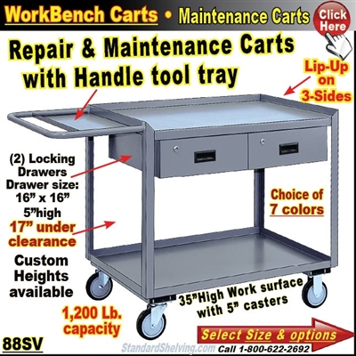 2-Drawer Maintenance Bench Cart