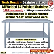 88UK / Stainless Steel Work Benches