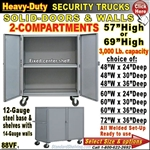 88VF / Heavy-Duty Security Trucks with 2-Compartment