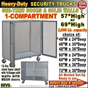 88VG / Heavy-Duty Security Trucks with 1-Compartment