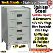 88VW / Stainless Steel Drawer Work Stand