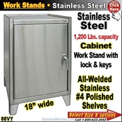 88VY / Stainless Steel Cabinet Work Stand