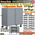 88VZ / Heavy-Duty Security Trucks with Adjustable Shelf