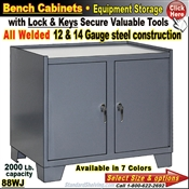 "88WJ / Heavy-Duty 36""Wide Bench Storage Cabinet"