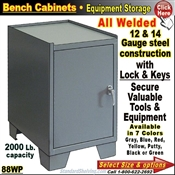 Heavy-Duty Bench Storage Cabinet
