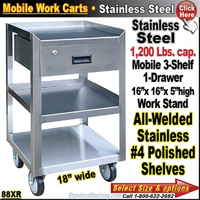 88XR / Stainless Steel Mobile Carts