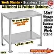 88XW / Stainless Steel Work Benches