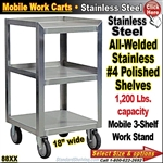 88XX / Stainless Steel Mobile Carts