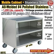 88YC / Stainless Steel Mobile Carts