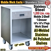 88YD / Stainless Steel Mobile Carts