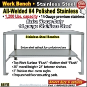 88YE / Stainless Steel Work Benches