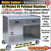 88YK / Stainless Steel Mobile Carts
