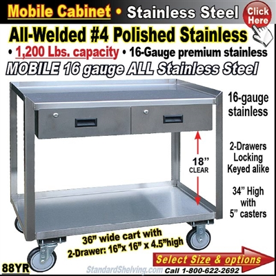 88YR / Stainless Steel Mobile Carts