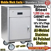 88YS / Stainless Steel Mobile Carts