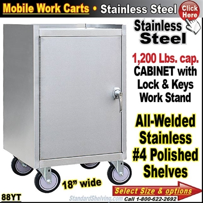 88YT / Stainless Steel Mobile Carts