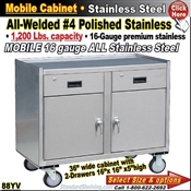 88YV / Stainless Steel Mobile Carts