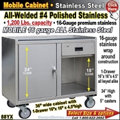 88YX / Stainless Steel Mobile Carts