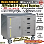 88YY / Stainless Steel Mobile Carts