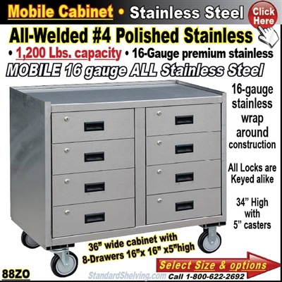 88ZO / Stainless Steel Mobile Carts